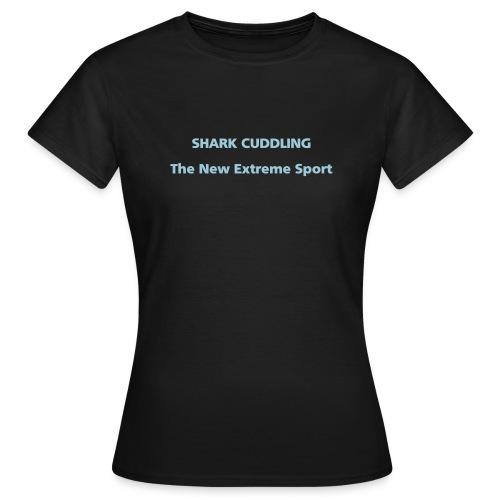 WOMENS SIMPLE: Shark cuddling - Women's T-Shirt