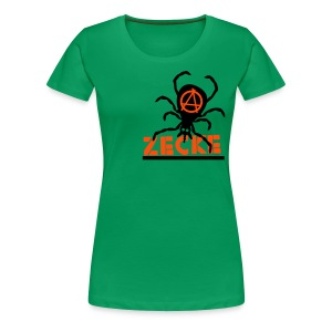 Zecke - orange/grün girlie1 - Frauen Premium T-Shirt