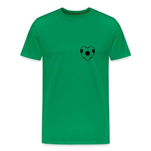 Fussball im Herzen - Männer Premium T-Shirt