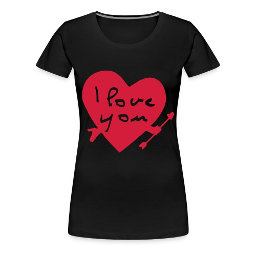 i luv you - Frauen Premium T-Shirt