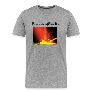 BurningEarth grey - Männer Premium T-Shirt