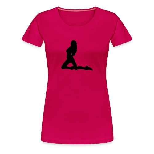 Girlieshirt Silhouette1 pink - Frauen Premium T-Shirt