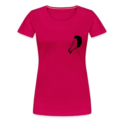 Frauen Shirt Pink - Schwarz - Frauen Premium T-Shirt