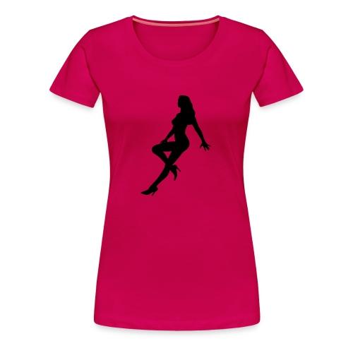 Girlieshirt Silhouette2 pink - Frauen Premium T-Shirt