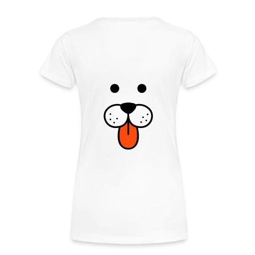 hund topp dam - Premium-T-shirt dam