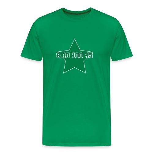 9 10 100 45, grün-weißer Flexdruck - Männer Premium T-Shirt