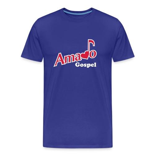 Tshirt Amado Gospel  -   avec Logo devant, prénom derière et note de musique sur l'épaule - T-shirt Premium Homme
