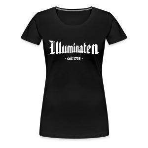 Girlieshirt klassisch Illuminaten - Frauen Premium T-Shirt