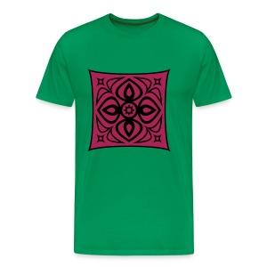 ornament schwarz rot - Men's Premium T-Shirt