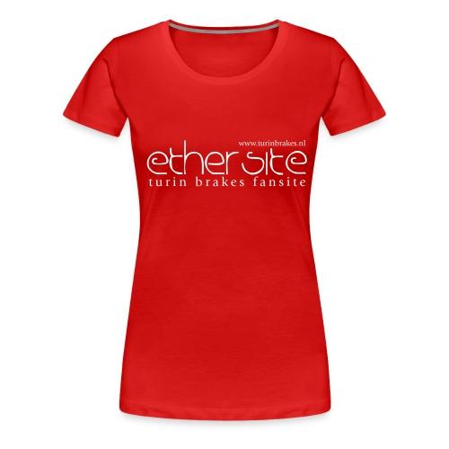 Ether Site T-shirt white logo (girls) - Women's Premium T-Shirt