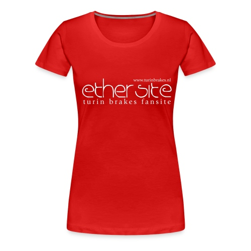 Ether Site T-shirt white logo (girls) - Women's Premium T-Shirt