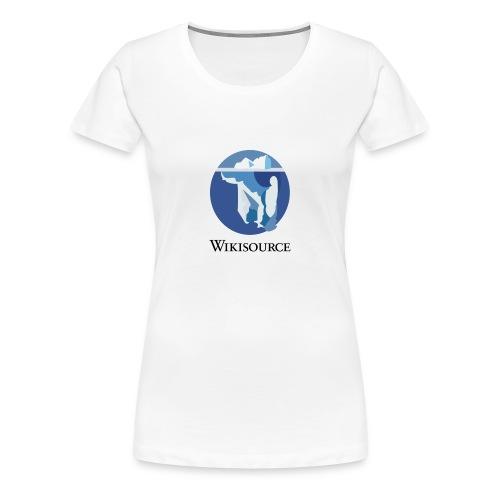 Wikisource torse Blanc - T-shirt Premium Femme
