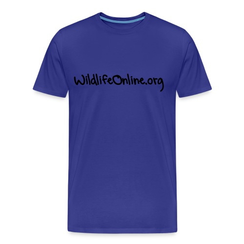 Mens Wildlife Online T-Shirt, 14 Colour choices - Black writing. - Men's Premium T-Shirt