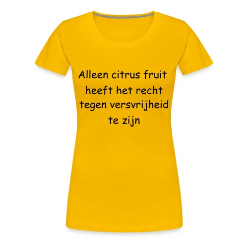 Citrus fruit - Vrouwen Premium T-shirt