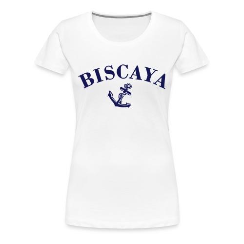 T-shirt Biscaya Vit Dam - Premium-T-shirt dam