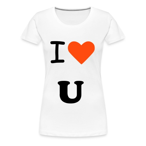 i love you tee.  - Women's Premium T-Shirt