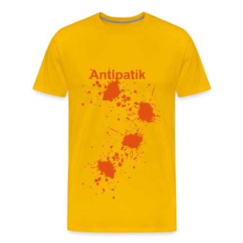 Antipatik yellow - T-shirt Premium Homme