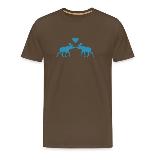 Elchliebe - braun - Männer Premium T-Shirt