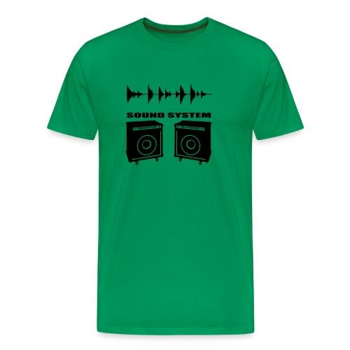 sound system - Camiseta premium hombre