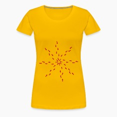 Light pink Star - traces Women's Tees