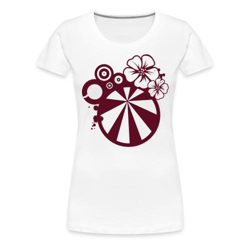T-shirt F blanc Surf - T-shirt Premium Femme