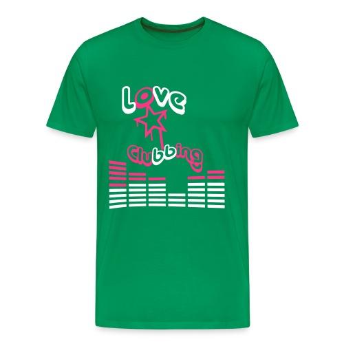 camiseta love clubbing - Camiseta premium hombre