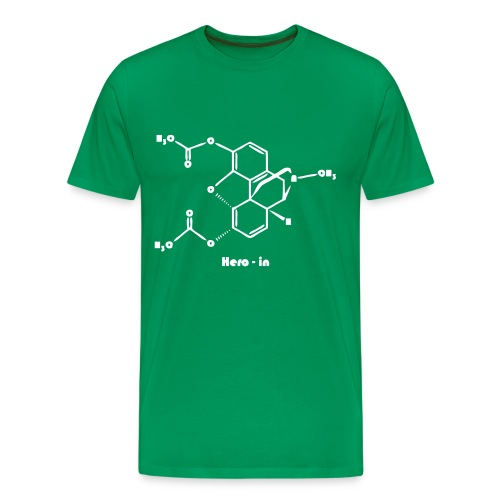 heroin man green - Men's Premium T-Shirt