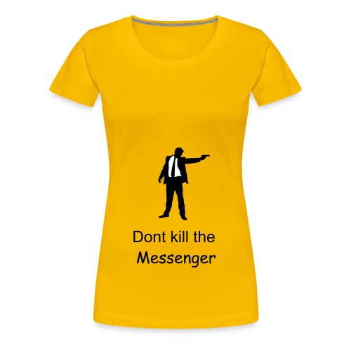 Messenger yellow - Women's Premium T-Shirt