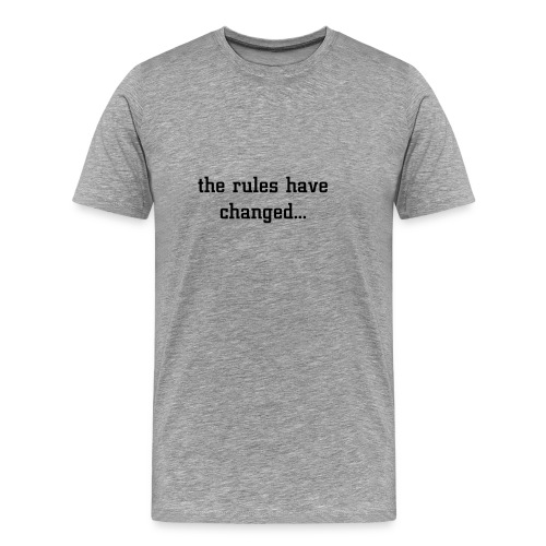 the rules large print branded back - Men's Premium T-Shirt