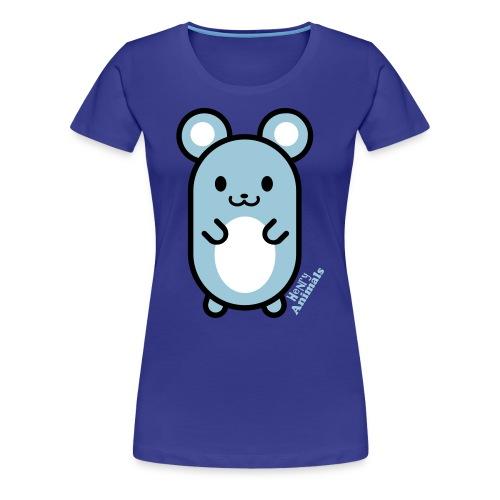 Girlieshirt türkis mit Comic Maus - Frauen Premium T-Shirt