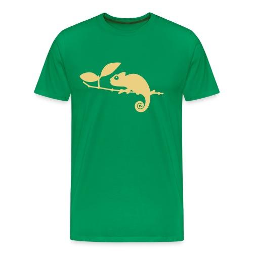 Chamäleon auf einem Ast - Männer Premium T-Shirt