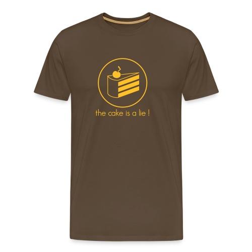 Cake is a Lie Shirt - Men's Premium T-Shirt