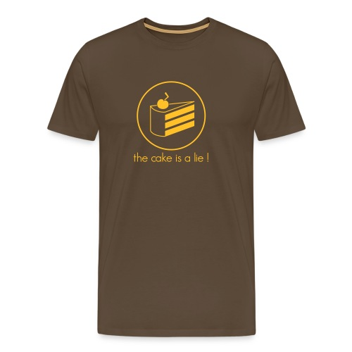 Cake is a Lie Shirt - Men's Premium T-Shirt