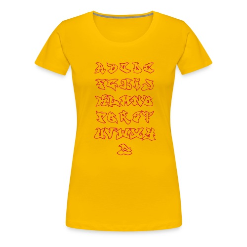 Tee SHirt for Woman - Alphabet Graffiti Rouge - T-shirt Premium Femme