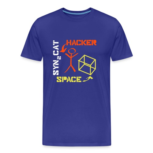 hacker + space shirt (blue edition) - Men's Premium T-Shirt