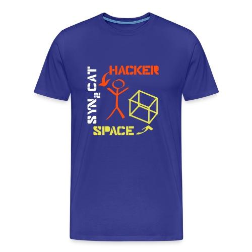 hacker + space shirt (blue edition) - Men's Premium T-Shirt