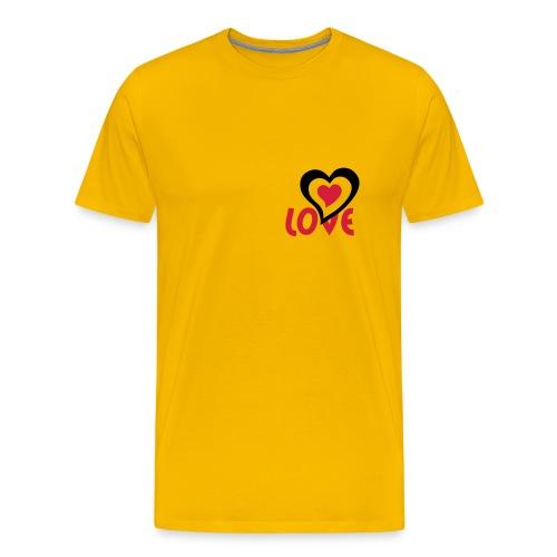 Love mit doppel Herz - Männer Premium T-Shirt