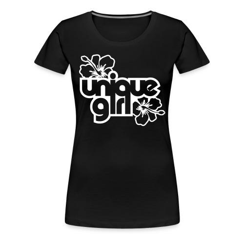 unique girl (noir) - T-shirt Premium Femme