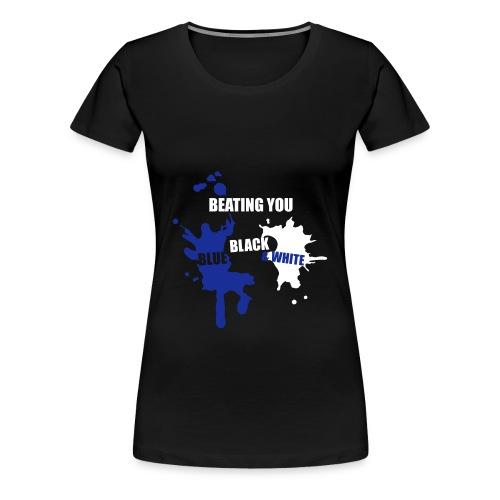 Women's Beating You Splashes Round Neck T-Shirt - Women's Premium T-Shirt