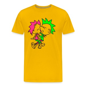 Naughty Punks -  yellow shirt - Männer Premium T-Shirt