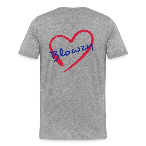 I Love Blowzy (model 1 ; homme) - T-shirt Premium Homme