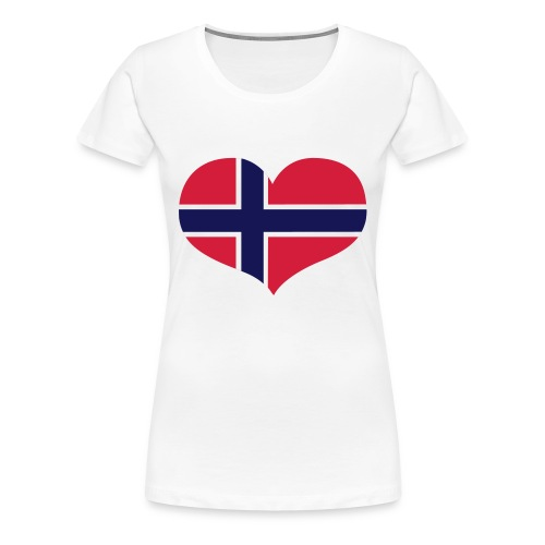 norgeflagg t-skjorte - Premium T-skjorte for kvinner