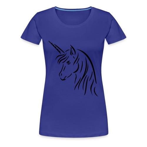Enhjørning Girlieskjorte for damer - Premium T-skjorte for kvinner