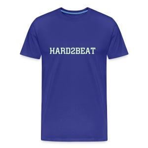 blue tee hard2beat glow print - Men's Premium T-Shirt