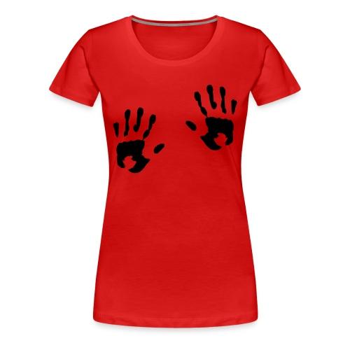 Hands Girlieskjorte for damer - Premium T-skjorte for kvinner