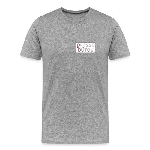 Pressebüro Shirt - grau - Männer Premium T-Shirt