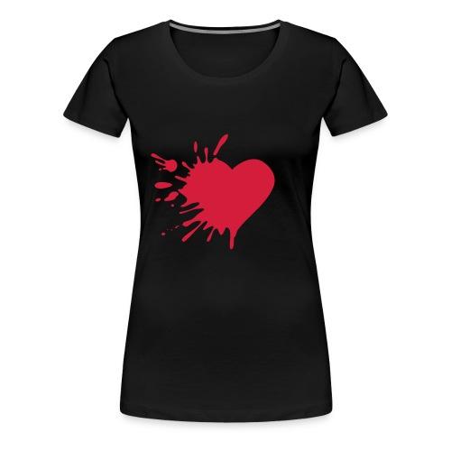 coeur meurtri - T-shirt Premium Femme