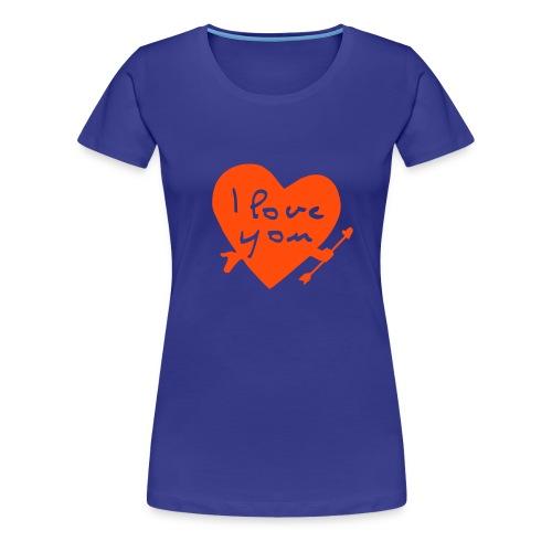 Tee shirt femme Love - T-shirt Premium Femme