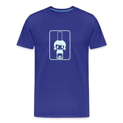 Bigoudène - Bleu/réfléchissant - T-shirt Premium Homme