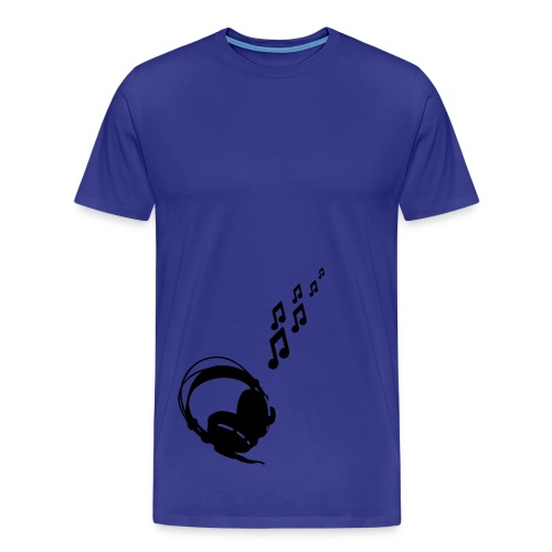 Blue Headphone's Mens T-Shirt - Men's Premium T-Shirt